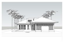 Beach Exterior - Rear Elevation Plan #481-4