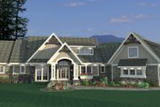 Craftsman Style House Plan - 3 Beds 3 Baths 5121 Sq/Ft Plan #51-581 Exterior - Front Elevation