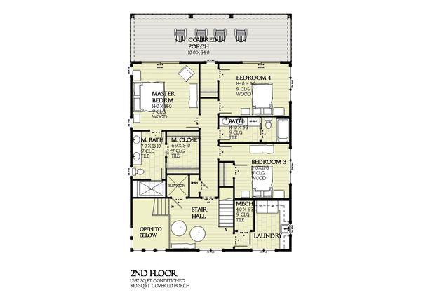 Beach Floor Plan - Upper Floor Plan #901-125