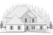 Craftsman Style House Plan - 4 Beds 2.5 Baths 2562 Sq/Ft Plan #437-3 Exterior - Other Elevation