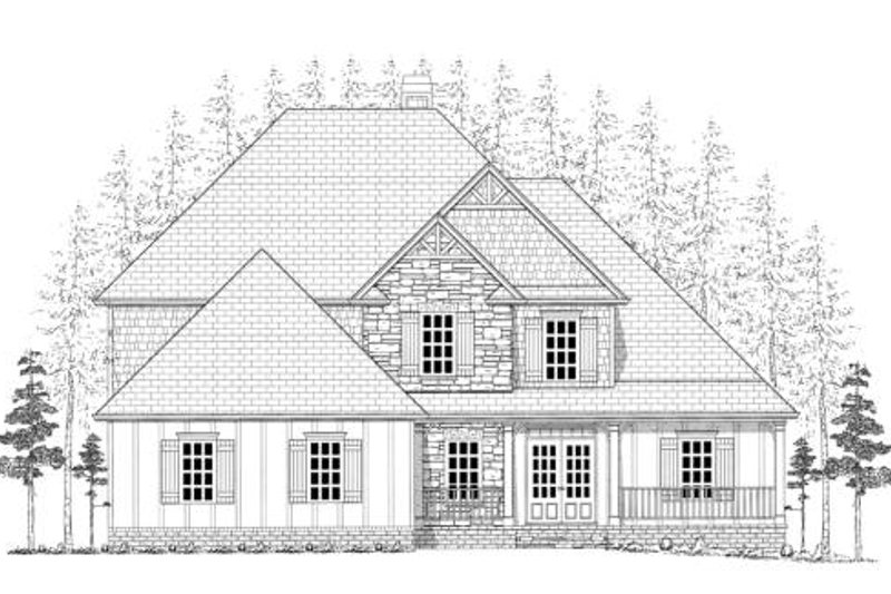 Craftsman Exterior - Other Elevation Plan #437-3 - Houseplans.com