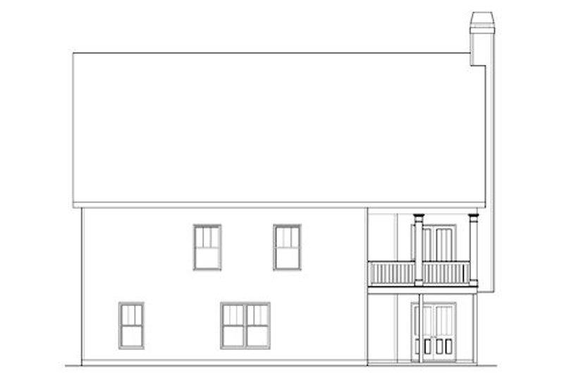 Craftsman Exterior - Rear Elevation Plan #419-229 - Houseplans.com