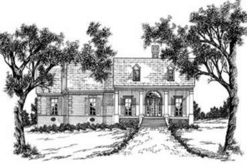 Southern Exterior - Front Elevation Plan #36-415