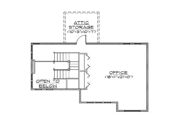 Bungalow Floor Plan - Upper Floor Plan Plan #5-386