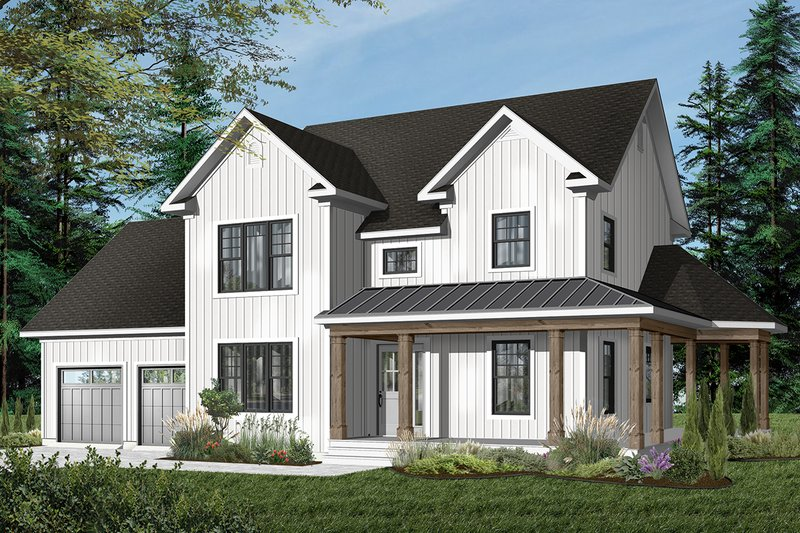 Country Exterior - Front Elevation Plan #23-622