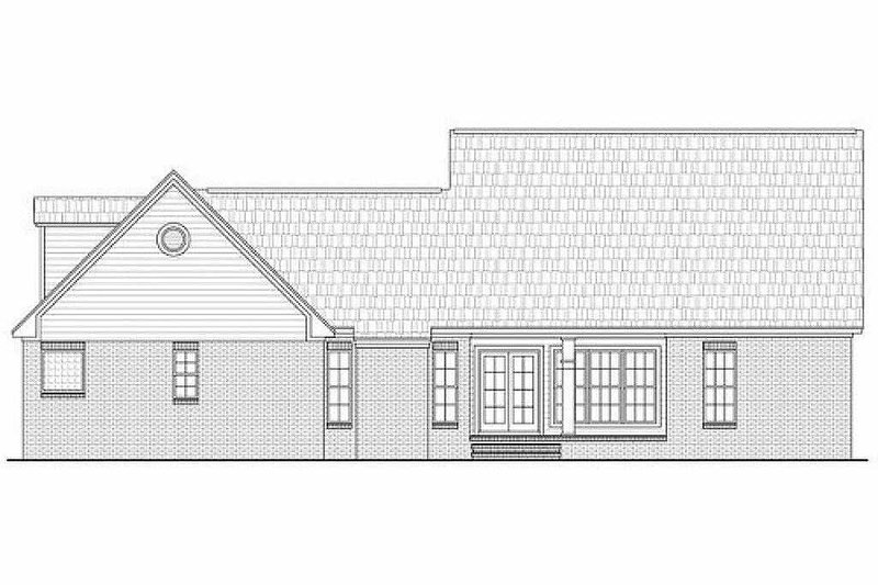 Country Exterior - Rear Elevation Plan #21-192 - Houseplans.com