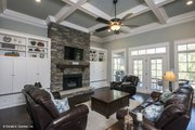 Craftsman Style House Plan - 4 Beds 3 Baths 2533 Sq/Ft Plan #929-24 Interior - Family Room