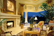 Mediterranean Style House Plan - 4 Beds 6.5 Baths 5265 Sq/Ft Plan #930-190 Interior - Family Room