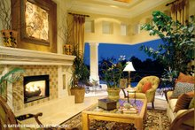 Architectural House Design - Mediterranean Interior - Family Room Plan #930-190