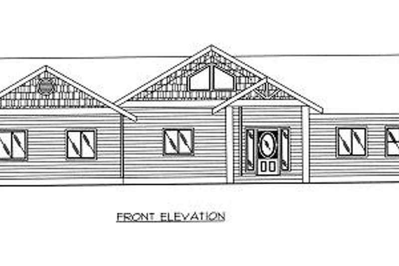 Traditional Exterior - Other Elevation Plan #117-548 - Houseplans.com