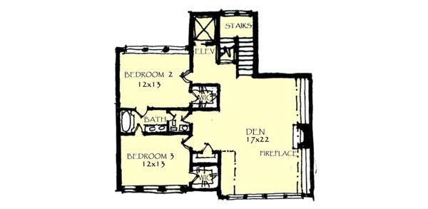 Craftsman Floor Plan - Upper Floor Plan #921-1