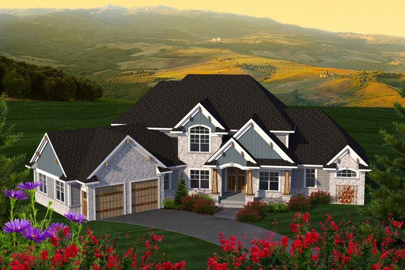 Home Plan - Craftsman Exterior - Front Elevation Plan #70-1233