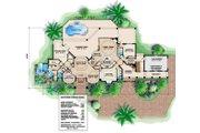 Mediterranean Style House Plan - 4 Beds 5 Baths 3472 Sq/Ft Plan #27-377 Floor Plan - Main Floor Plan