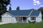 Farmhouse Style House Plan - 3 Beds 2 Baths 1423 Sq/Ft Plan #116-210 Exterior - Front Elevation