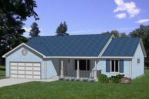 Farmhouse Exterior - Front Elevation Plan #116-210