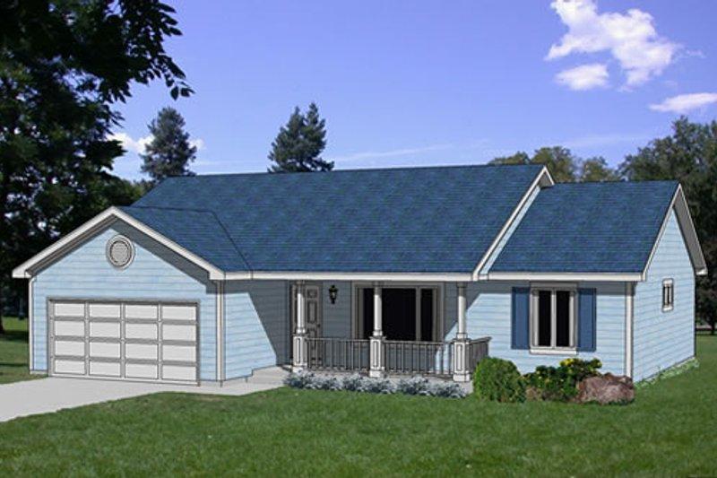 Farmhouse Style House Plan - 3 Beds 2 Baths 1423 Sq/Ft Plan #116-210