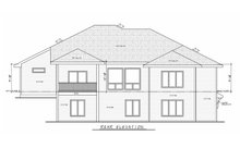 House Plan Design - Contemporary Exterior - Rear Elevation Plan #20-2357