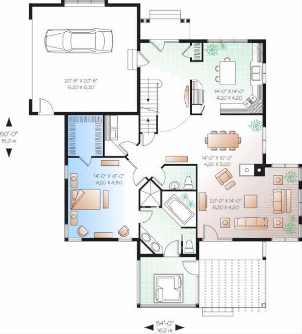 Traditional Floor Plan - Main Floor Plan Plan #23-716