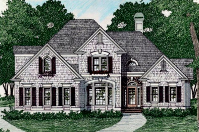 Traditional Style House Plan - 3 Beds 2.5 Baths 2058 Sq/Ft Plan #129-135 Exterior - Front Elevation