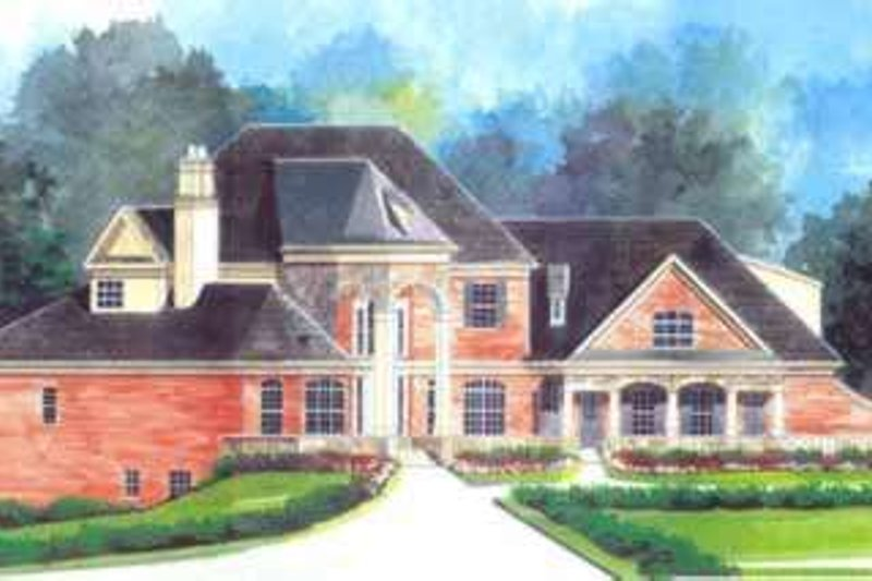 House Plan Design - European Exterior - Front Elevation Plan #119-233