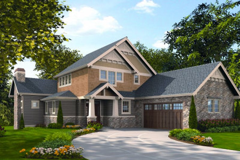 Craftsman Exterior - Front Elevation Plan #48-251