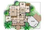 Country Style House Plan - 3 Beds 4.5 Baths 8918 Sq/Ft Plan #27-531 Floor Plan - Main Floor Plan