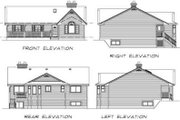 Traditional Style House Plan - 3 Beds 2 Baths 1475 Sq/Ft Plan #47-148 Exterior - Rear Elevation