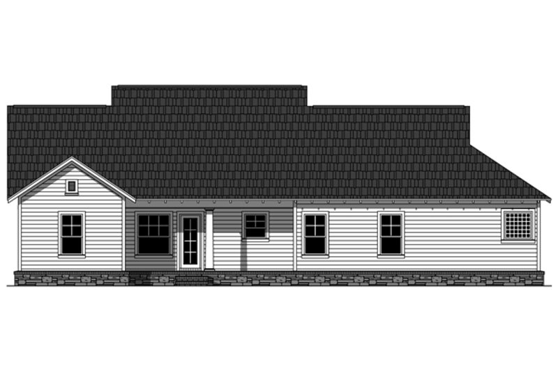 Craftsman Exterior - Rear Elevation Plan #21-358 - Houseplans.com