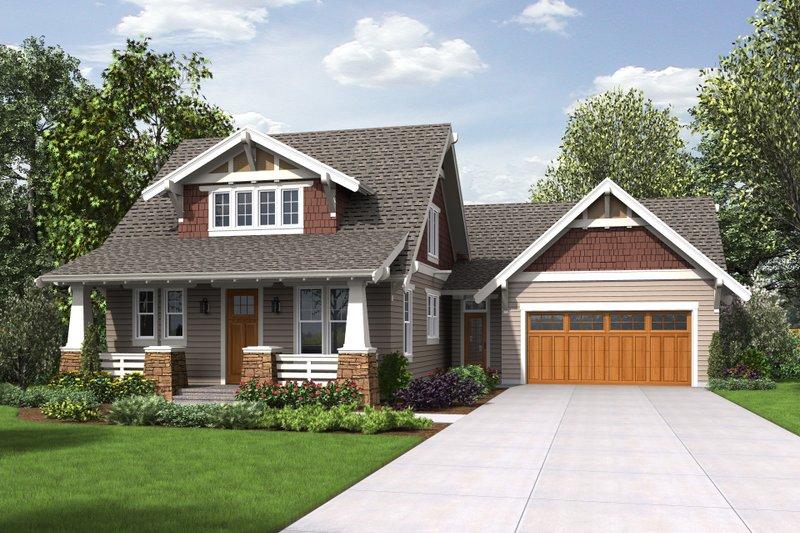 Dream House Plan - Cottage Exterior - Front Elevation Plan #48-704