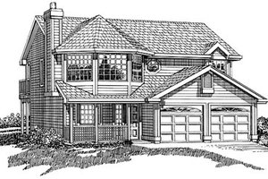 Traditional Exterior - Front Elevation Plan #47-234