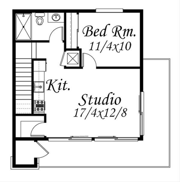 Modern Floor Plan - Upper Floor Plan Plan #509-32