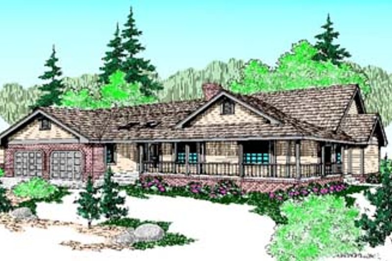 Traditional Exterior - Front Elevation Plan #60-501 - Houseplans.com