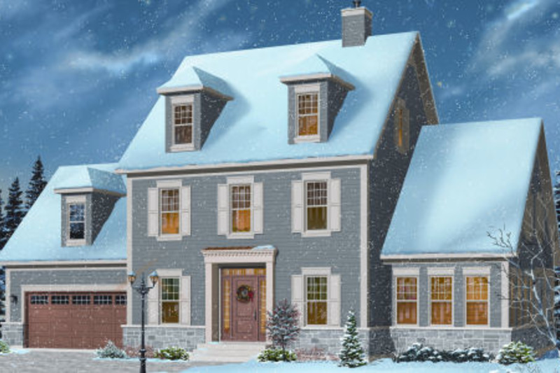 Colonial Exterior - Front Elevation Plan #23-2260 - Houseplans.com