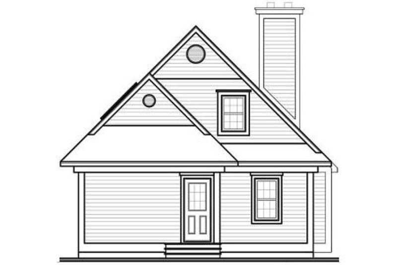 Cottage Exterior - Rear Elevation Plan #23-2024 - Houseplans.com