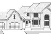 European Style House Plan - 4 Beds 2.5 Baths 3150 Sq/Ft Plan #51-461 Exterior - Other Elevation