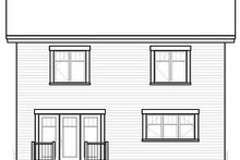 House Design - Traditional Exterior - Rear Elevation Plan #23-738