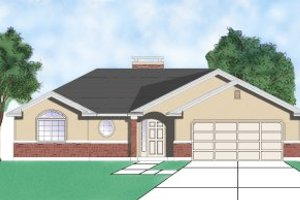 Ranch Exterior - Front Elevation Plan #5-108