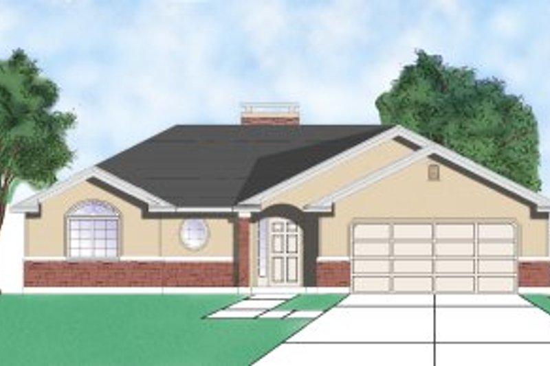 House Plan Design - Ranch Exterior - Front Elevation Plan #5-108