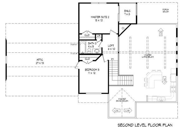 Country Floor Plan - Upper Floor Plan Plan #932-261