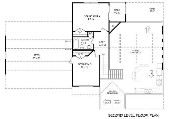 House Plan Design - Country Floor Plan - Upper Floor Plan #932-261