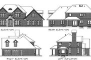 European Style House Plan - 4 Beds 2.5 Baths 2685 Sq/Ft Plan #47-389 Exterior - Rear Elevation
