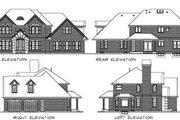 European Style House Plan - 4 Beds 2.5 Baths 2685 Sq/Ft Plan #47-389 Exterior - Rear Elevation