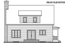 Cottage Exterior - Rear Elevation Plan #23-498