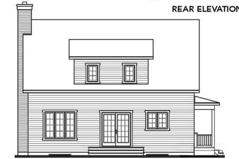 Cottage Exterior - Rear Elevation Plan #23-498 - Houseplans.com