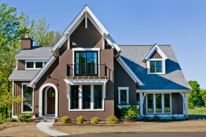 House Plan Design - Traditional styled home with Contemporary features, elevation photo