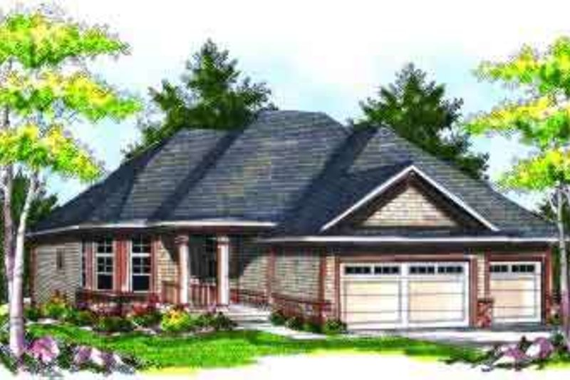 Craftsman Exterior - Front Elevation Plan #70-723