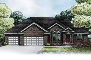 European Style House Plan - 3 Beds 2 Baths 1893 Sq/Ft Plan #20-2151 Exterior - Front Elevation