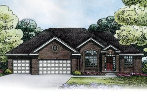 Architectural House Design - European Exterior - Front Elevation Plan #20-2151