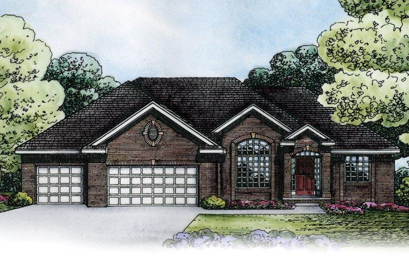 Architectural House Design - European Exterior - Front Elevation Plan #20-2151
