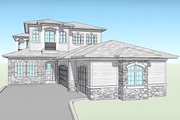 Country Style House Plan - 4 Beds 4.5 Baths 3191 Sq/Ft Plan #938-15 Exterior - Front Elevation